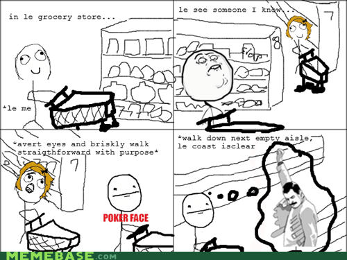 Awkward f yeah freddie poker face Rage Comics shopping - 6125236480