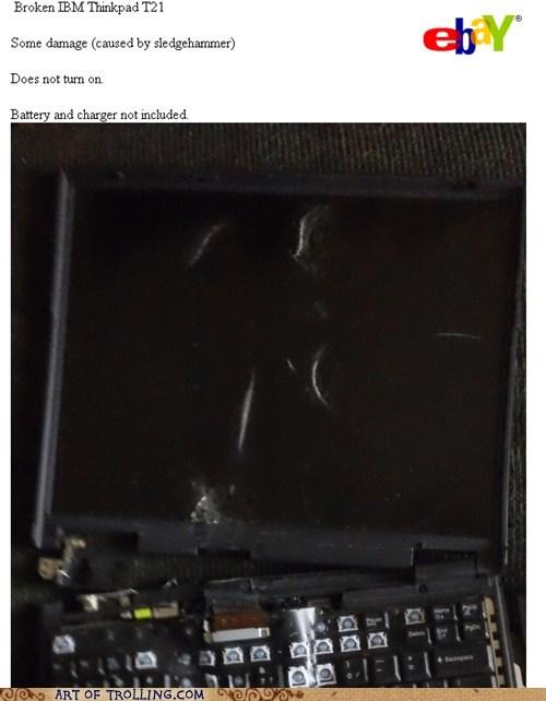 broken computer ebay shoppers beware - 6125244672