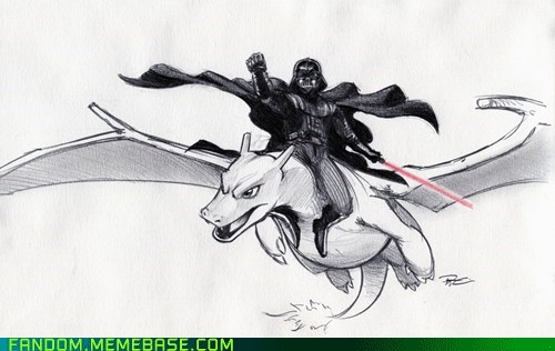 charizard crossover darth vader Fan Art Pokémon scifi star wars - 6125404416