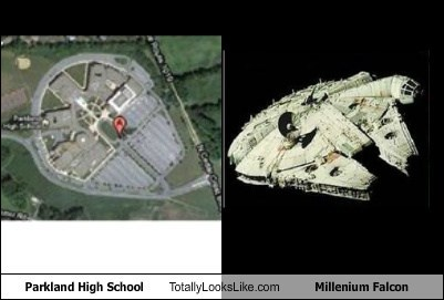 funny Millenium Falcon Movie school star wars TLL