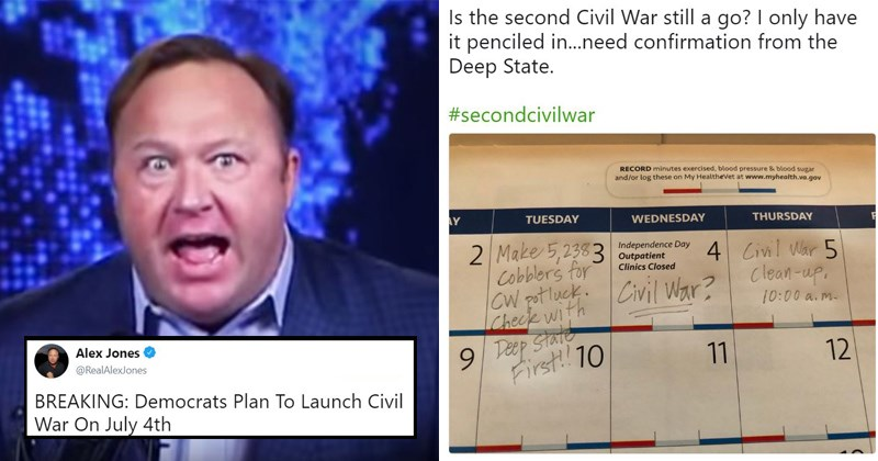 liberals twitter alex jones july 4th conservatives murica murica day fourth of july memes july fourth infowars second civil war fourth of july second civil war letters funny tweets civil war july fourth memes happy birthday america politics patriotic - 6125573