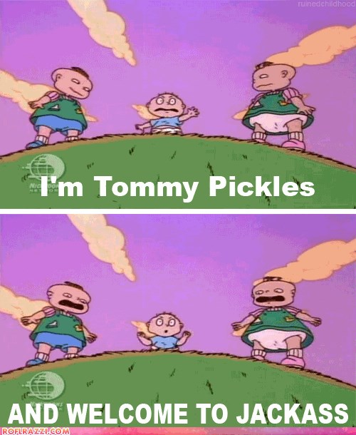 Tommy Pickles Ice Cream Tattoo On His Face: Funny Celebrity Pictures