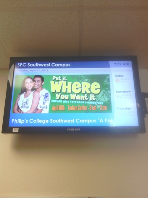 college advertising put it where you want it slogans - 6125649920