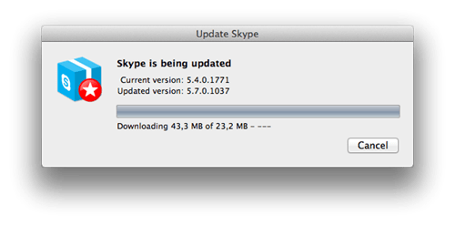 auto-update skype update