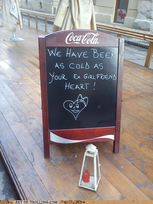 beer cold ex IRL Memes relationships sign