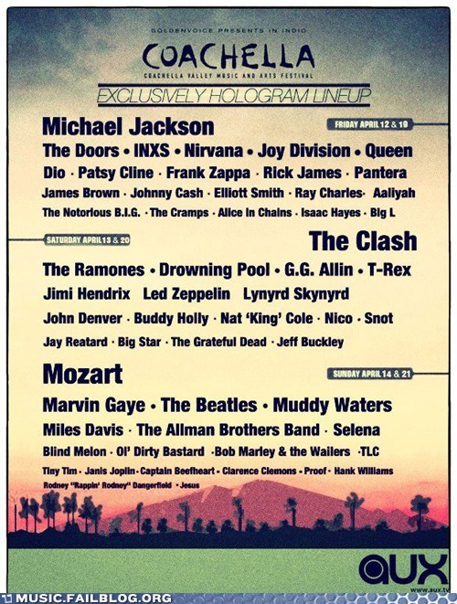 coachella,dead,dead musician,Death,g rated,hologram,Music FAILS
