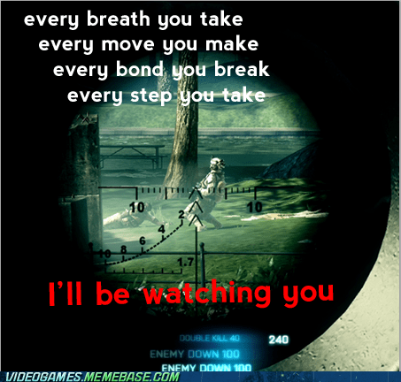 Battlefield 3 ill-be-watching-you meme sniper the police - 6126873600