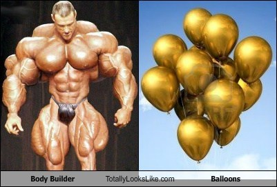 Balloons,body builder,classic,funny,TLL