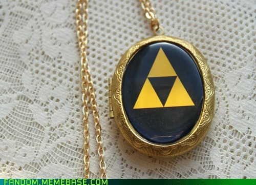 Fan Art legend of zelda necklace triforce video games - 6127558400