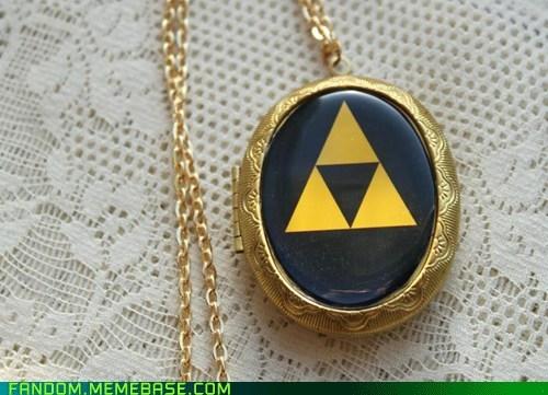 Fan Art legend of zelda necklace triforce video games - 6127558400