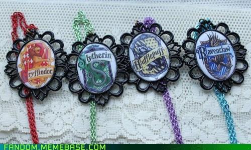 Fan Art Harry Potter houses necklaces - 6127562240