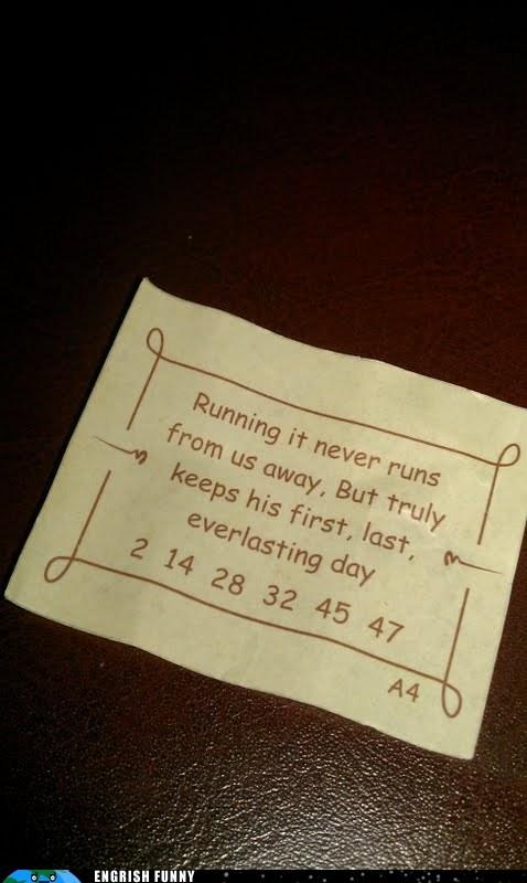 fortune fortune cookie philosopher rené descartes running - 6127591168