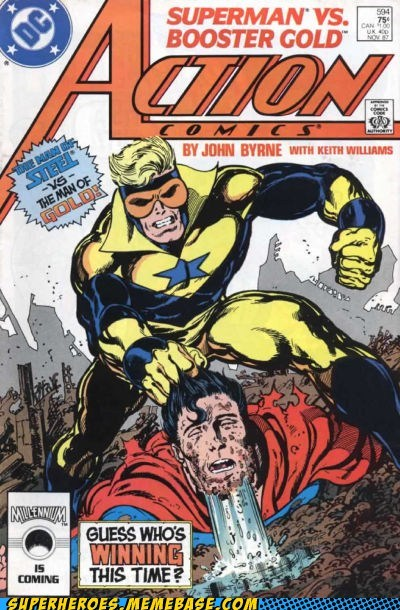 booster gold impossible Straight off the Page superman wtf - 6127902208