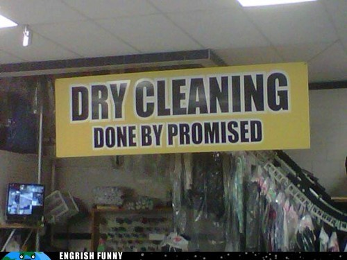 done by promised dry cleaning - 6128092416
