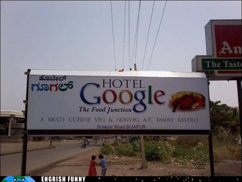 You can't seem to help seeing Google everywhere!