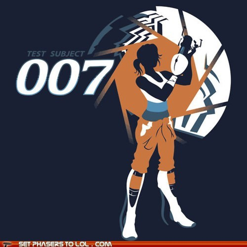 007,aperture science,chell,james bond,Portal,portal gun,test