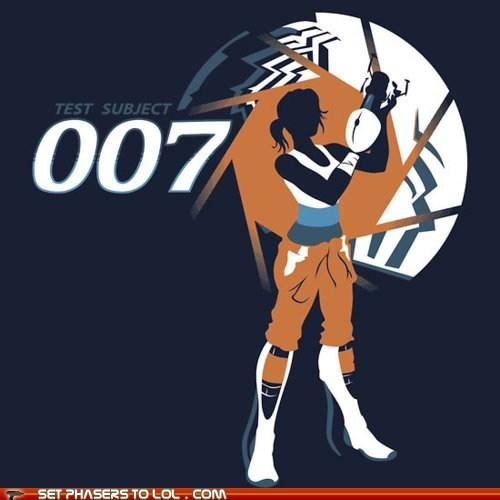 aperture science chell james bond Portal portal gun test - 6128184064