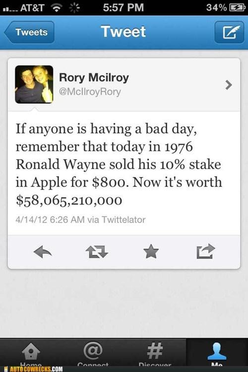 apple Hall of Fame ronald wayne Rory McIlroy selling stock - 6128240896
