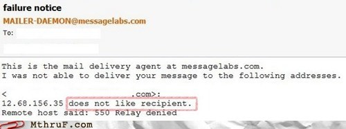 email email recipient mailer-daemon recipient return to sender