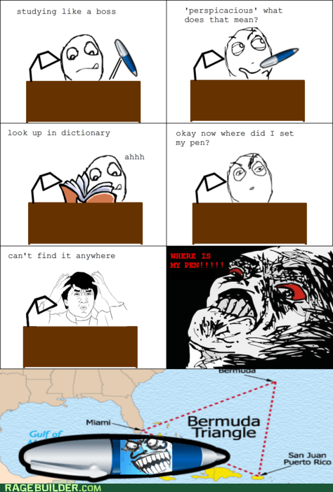 i lied lost pen Rage Comics raisin rage - 6128387072
