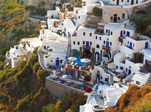 architecture,cliff side,greece,houses
