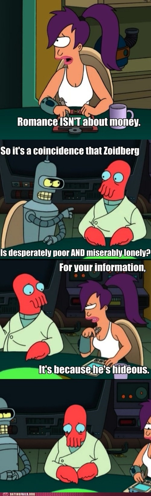 bender forever a zoidberg futurama Hall of Fame leela romance and money too ugly
