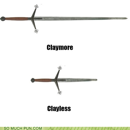 claymore,less,literalism,more,suffix,sword