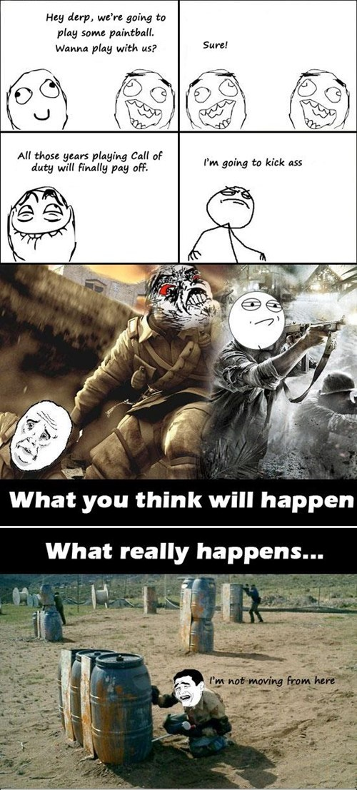 call of duty Challenge Accepted Okay paintball Rage Comics