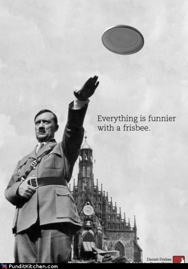 frisbee,hitler,political pictures