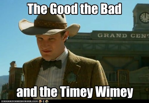 cowboy doctor who Matt Smith season 7 the doctor the good the bad and the ugly timey-wimey