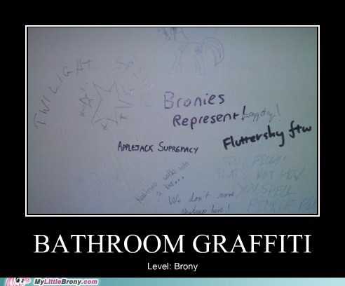 bathroom brony graffiti IRL - 6128983040