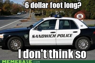 Memes police sandwich sub Subway - 6129035520