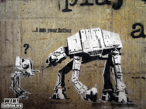 at at,at st,graffiti,hacked irl,nerdgasm,star wars,Street Art