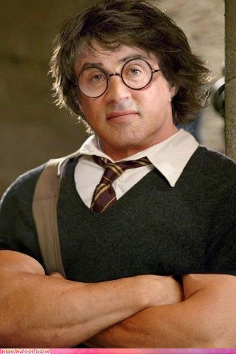 actor,celeb,fake,funny,Harry Potter,Movie,shoop,Sylvester Stallone