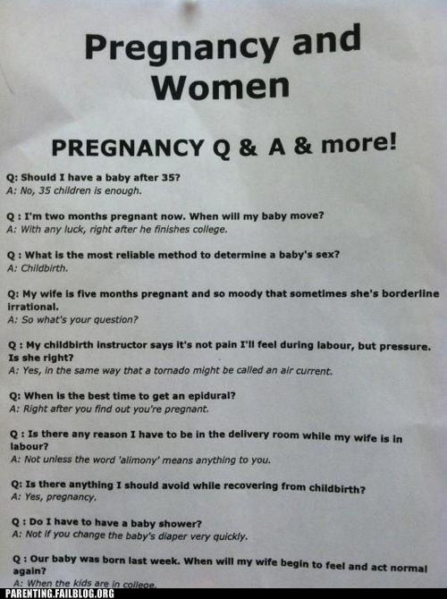 funny advice g rated Hall of Fame Parenting FAILS pregnancy qa women - 6129390336