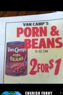 beans engrish funny pork van-camps - 6129435904