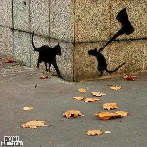 cat cat and mouse graffiti hacked irl mouse Street Art Tom and Jerry - 6129714944