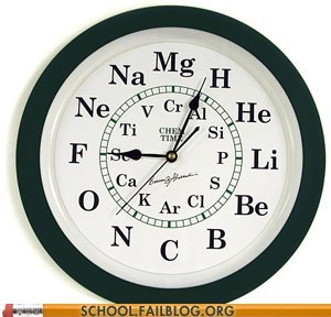 atomic numbers,clocks,elements,g rated,Hall of Fame,School of FAIL