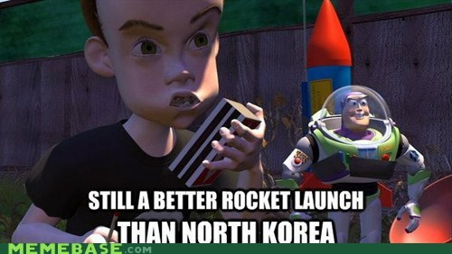 disappoint kim jong-un Memes North Korea rocket toy story - 6130279680