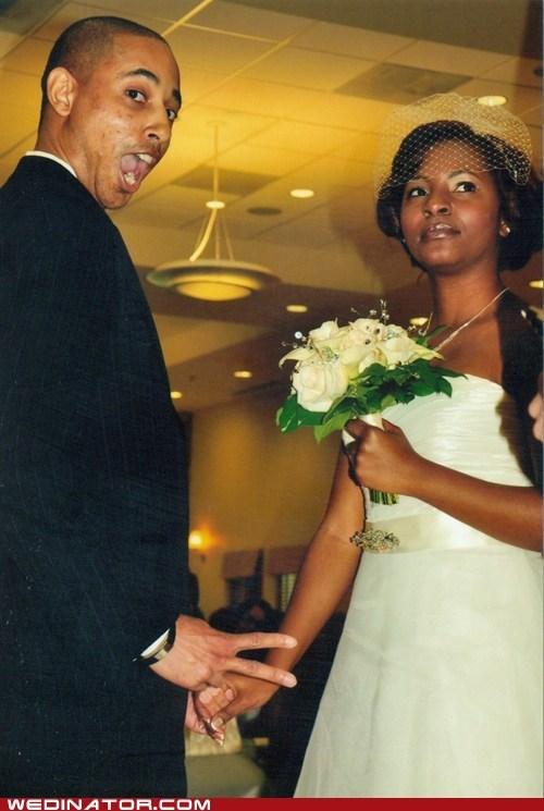 bride funny wedding photos groom pose - 6130794752