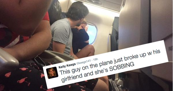 couple breaks up on plane