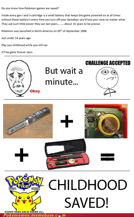 battery,challenge complete,childhood,fixed,IRL,Pokémon