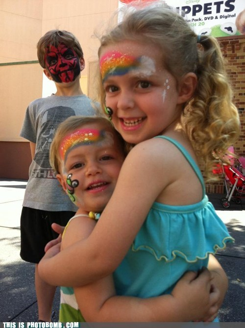 darth maul,facepaint,Good Times,kids,star wars