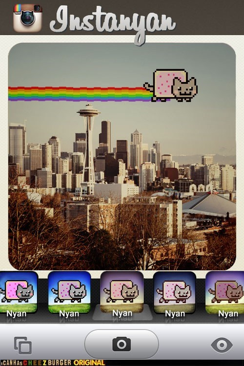 apps,filters,instagram,iphone,Memes,nyan,Nyan Cat