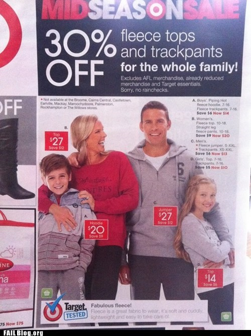 Ad,fail nation,g rated,photoshop,Target,too many hands