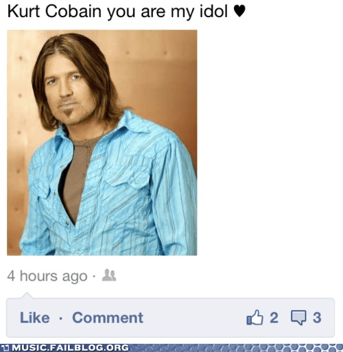 Billy Ray Cyrus facebook kurt cobain nirvana - 6132543232