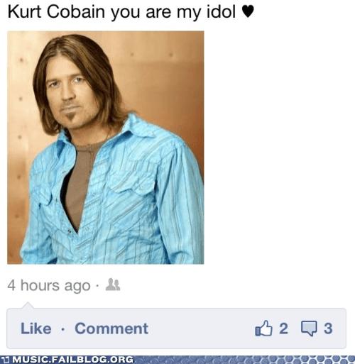 Billy Ray Cyrus facebook kurt cobain nirvana - 6132543232