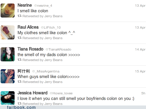 cologne,colon,failbook,g rated,misspelling,tweet,twitter