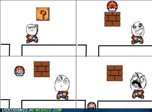 fuuuuuuuu,mario,mushroom,power up,rage,rage comic,troll