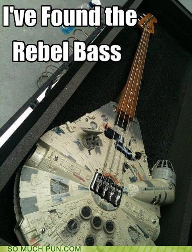 base bass double meaning Hall of Fame homophone instrument literalism Millenium Falcon rebel star wars